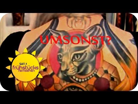UMSONST Tattoos stechen lassen? - Test | SAT.1 Frühstücksfernsehen