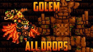 Terraria - Golem Boss & all drops [Spoilers]