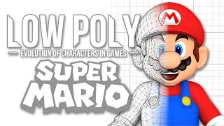 Super Mario - Low Poly (Evolution of Characters in Games) - Episode 1