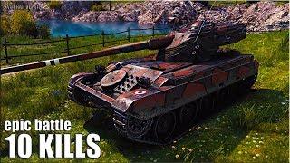 AMX 13 105 читы ПРЯМЫЕ РУКИ 🌟 10 ФРАГОВ 🌟 World of Tanks лучший бой на лт 10
