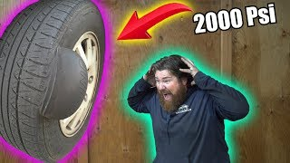 How Much PRESSURE Can a TIRE Take?