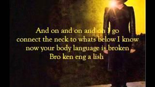 Adam Lambert - Broken English (lyrics)