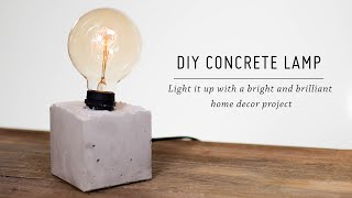 Diy Concrete Lamp Free Video Search Site Findclip