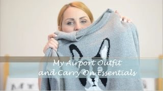 MY AIRPORT OUTFIT & Carry On Essentials I Bang On Style   Ad