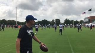 Eagles run 7-on-7 drills during 1st day of training camp