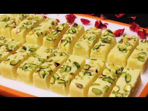 Easy Besan Barfi Recipe न मावा न चाशनी 10 Min में हलवाई जैसी दानेदर बेसन बर्फी Besan Barfi Recipe