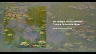 Aria variata in A minor, BWV 989
