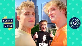Ultimate Jake and Logan Paul Brothers ft. Dwarf Mamba Vine Comp March 2018 | Funny Vines V2