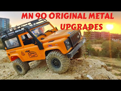 EXTREME TEST | MN 90 METAL AXLES & TRANSMISSION - RC DEFENDER CRAWLING TEST - RC WITH POPEYE