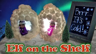 Purple & Pink Elf on the Shelf - Milk Jug Igloos & Hot Chocolate! Day 22