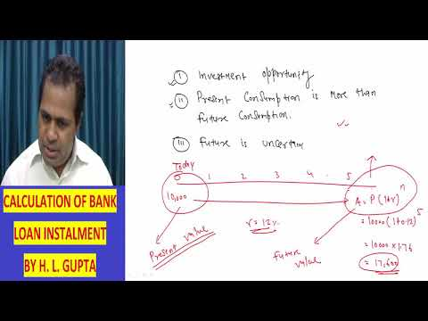Time Value of Money, SFM Lecture By Prof HL Gupta