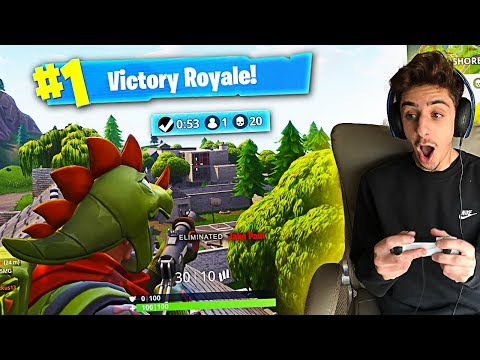 MY FIRST EVER SOLO VICTORY ON FORTNITE!! (CRAZIEST ENDING EVER)
