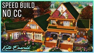 Sims 4 Speed Build - Autumn Family Home | Kate Emerald