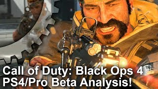 [4K] Call of Duty Black Ops 4: PS4 vs PS4 Pro Beta Analysis - Treyarch