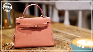 [Leather Craft] Making A Handmade Small Handbag / Free PDF Pattern