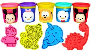 Mickey Mouse Play Doh Can Heads with Fun Molds & Surprise Toys Surprise Eggs for Kids