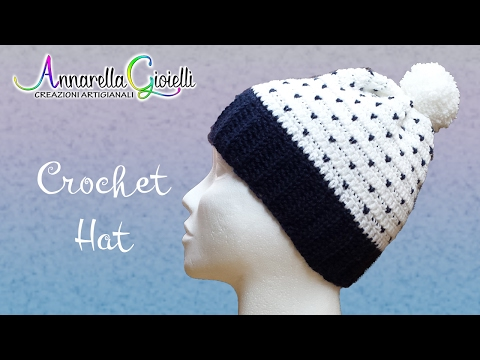 Cappello all Uncinetto 🌻 Fiocchi di neve 🌻 Crochet slouchy snowfall hat 98d475dc9ccb