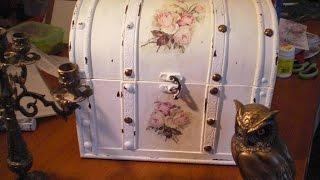 Vintage - Koffer im Shabby Chic gestaltet