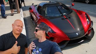 Eating Pizza with Christian von Koenigsegg