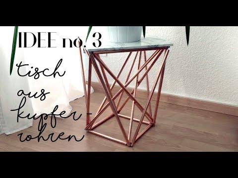 Kupfer Deko DIY   Beistelltisch aus Kupfer selber machen / Idee no.3