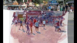 Painting A Crowd Scene In Gouache