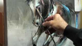 Impressionist Oil Painting- Horse