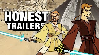 ►►Subscribe to ScreenJunkies!►► https://fandom.link/SJSubscribe  Honest Trailers   Star Wars: Clone Wars (2003) Voice Narration: Jon Bailey aka Epic Voice Guy Written by: Spencer Gilbert, Joe Starr,  Danielle Radford & Lon Harris Produced by: Spencer Gilbert & Joe Starr Edited by: Kevin Williamsen Post-Production Supervisor: Emin Bassavand Supervising Producer: Max Dionne Associate Producer: Ryan O'Toole Executive Producer: Roth Cornet  #HonestTrailers