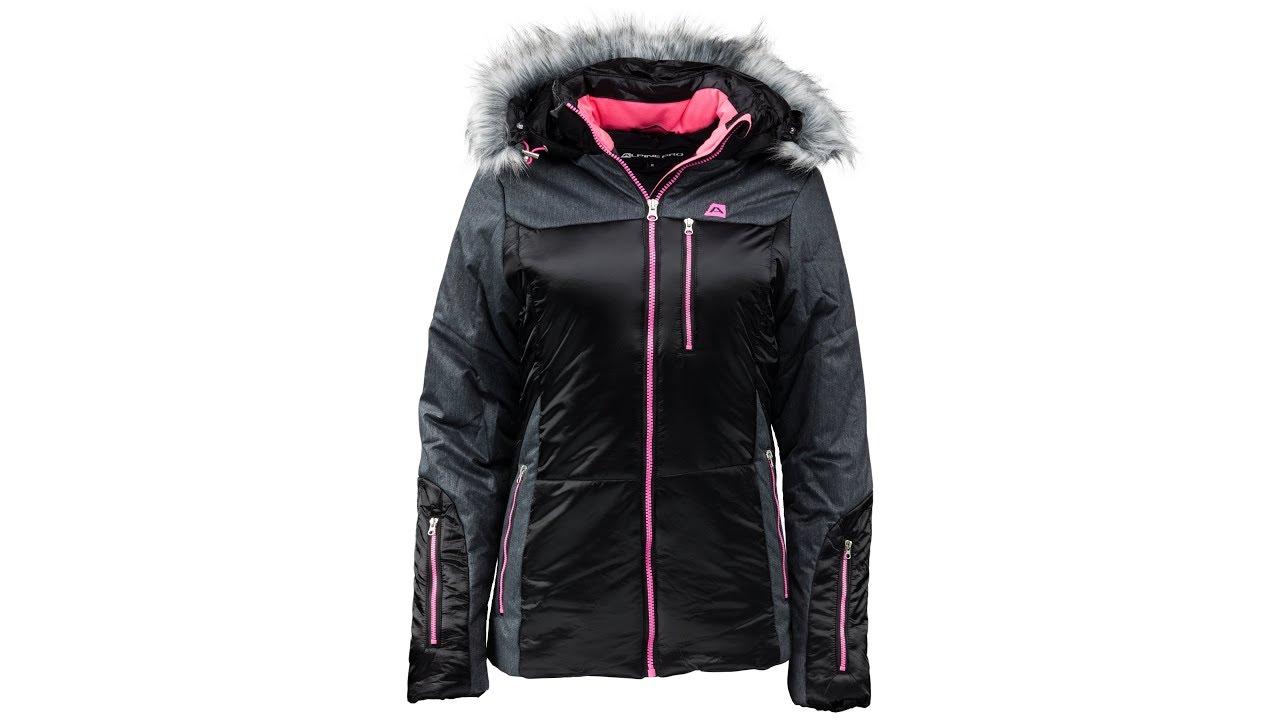 Dámska zimná bunda Alpine Pro Tene je príkladne ušitá v priliehavejšom  strihu. Disponuje pevnou kapucňou s lemovaním z príjemného umelého kožúšku 8e9e3c984bd