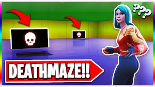 The SMART Riddle Deathmaze! (Fortnite Creative Mode)
