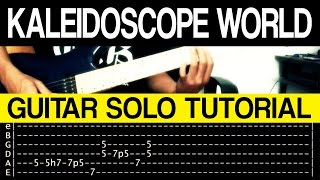 Kaleidoscope World   Francis M INTRO + GUITAR SOLO Tutorial (WITH TAB)