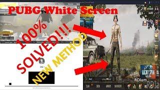 How to fix White screen PUBG Mobile - मुफ्त