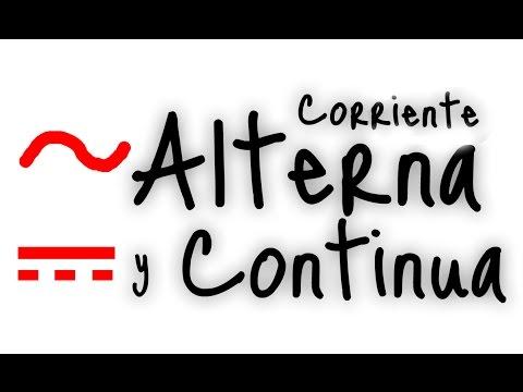 ¿Qué es Corriente Alterna y Continua?