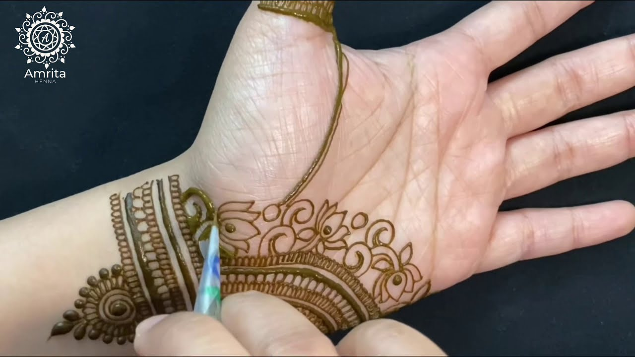 traditional rajasthani mehndi design bridal by amrita henna