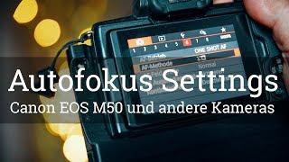 ⭐️ AUTOFOKUS EINSTELLUNGEN und Methoden an der EOS M50 und anderen Kameras