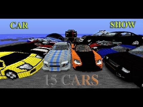 Huge 3d Car Show 15 Cars Done Minecraft Project