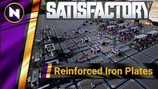 100% EFFICIENT REINFORCED IRON PLATES - Satisfactory Designs #3