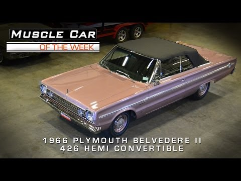 Muscle Car: 1966 Plymouth Belvedere II 426 Hemi Convertible