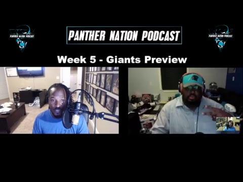 [Carolina Panthers] Week 5 - Giants PREVIEW