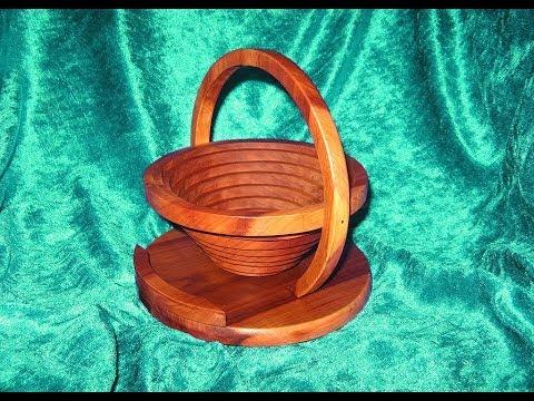 Faltbarer Korb - Dekupiersäge Holzwerken