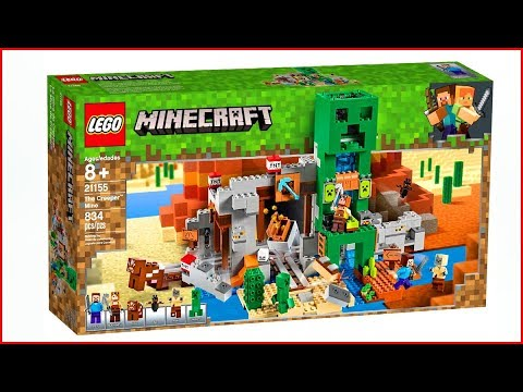 LEGO MINECRAFT 21155 The Creeper Mine Toy - UNBOXING Speed Build