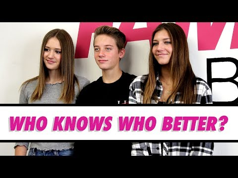Who Knows Who Better: The Lewis Triplets