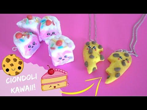 CIONDOLI PER MIGLIORI AMICHE KAWAII *DIY cookie & cake charm necklace*