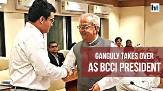 Former Indian cricket captain Sourav Ganguly takes charge as BCCI President