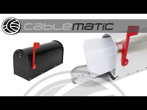 Buzón US Mail de aluminio para correo postal americano distribuido por CABLEMATIC ®