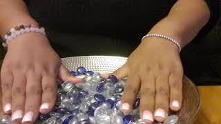 Asmr Glass Beads Sounds , Rubbing , Clinking And Scratching Sounds