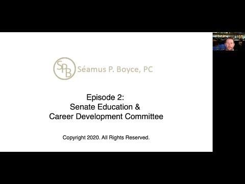 Episode 2 – Senate Education & Career Development Committee