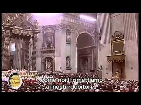 ''Pater Noster'' читает Папа Римский Иоанн Павел II
