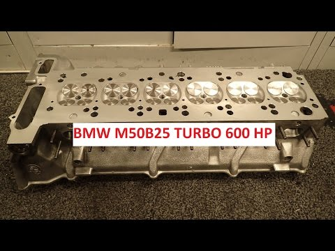 BMW M50B25 600 hp turbo cylinderhead build.