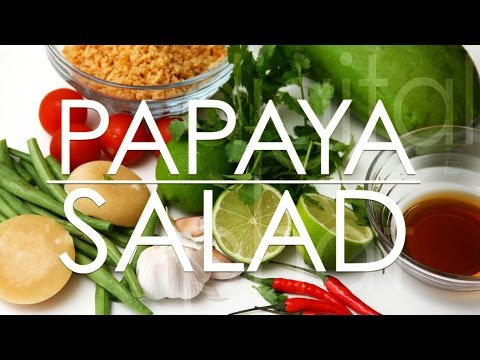 Download How to make Papaya Salad in Vietnam Mp4 HD Video and MP3