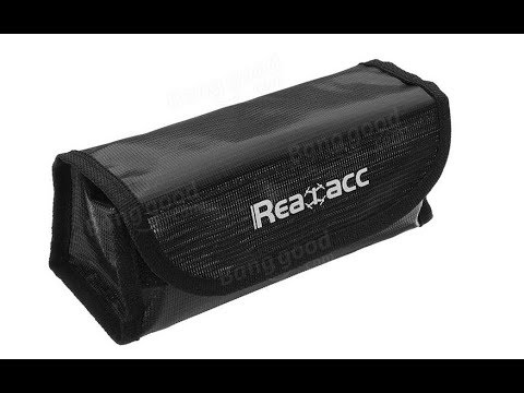 My 0,01€ Realacc Fire Retardant LiPo Battery Pack Portable Explosion Proof Safety Bag